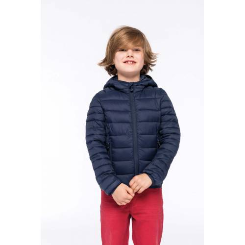 K6112   Piumino bambino leggero cappuccio