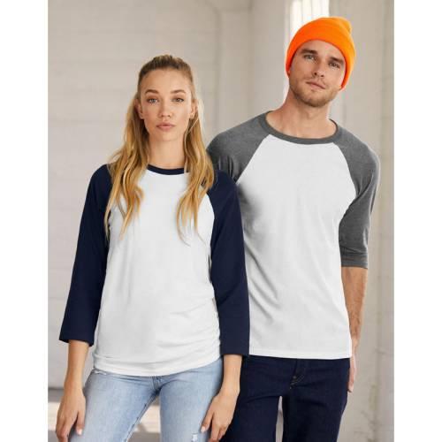 B3200 | T-shirt Triblend maniche 3/4 Baseball