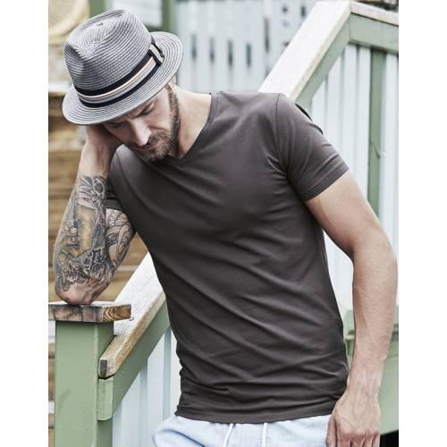 TJ401 | T-shirt uomo scollo a V Stretch