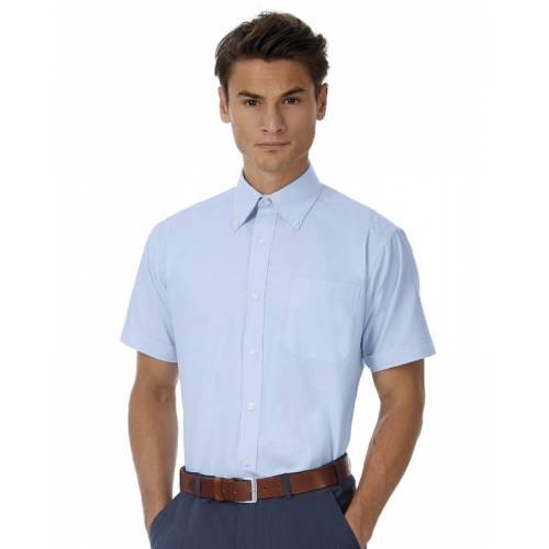 CSMO02 | Camicia uomo maniche corte Oxford