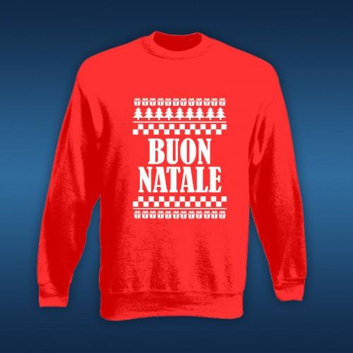 NATALE019 | Felpa Personalizzata uomo - Buon Natale