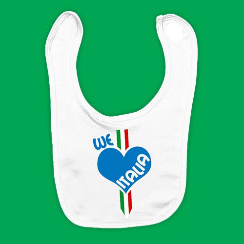 PRINT080 | Bavaglino Personalizzato Neonato - We love Italia