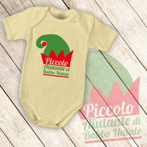 NATALE001 | Body Personalizzato neonato - Piccolo Aiutante di Babbo Natale