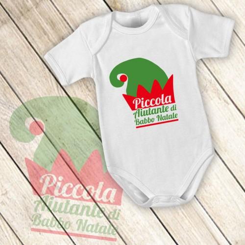 NATALE002 | Body Personalizzato neonato - Piccola Aiutante di Babbo Natale