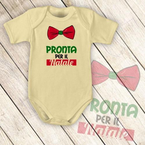 NATALE003 | Body Personalizzato neonato - Pronta per il Natale