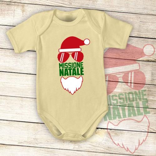 NATALE009 | Body Personalizzato neonato - Missione Natale