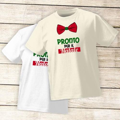 NATALE015 | T-shirt Personalizzata Bambini - Pronto per il Natale