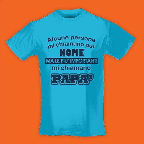 PRINT003 | T-shirt Personalizzata slim uomo - Mi chiamano papà