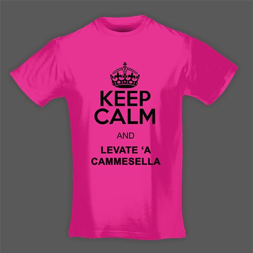 PRINT004 | T-shirt Personalizzata slim uomo - Keep Calm Cammesella
