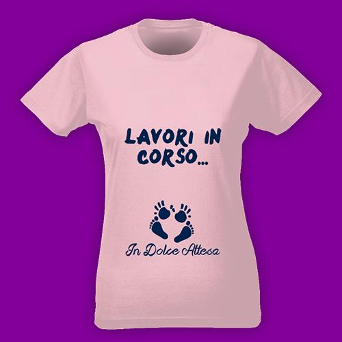 PRINT006 | T-shirt Personalizzata slim donna - Dolce attesa