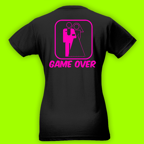 PRINT007 | T-shirt Personalizzata slim donna - Game Over