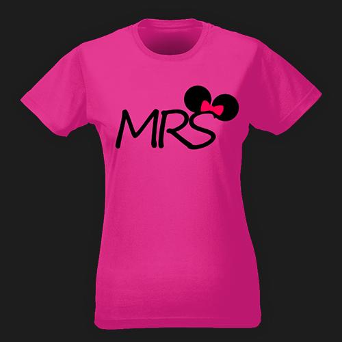 PRINT010 | T-shirt Personalizzata slim donna - Mrs Mouse