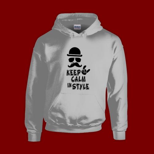 PRINT019 | Felpa Personalizzata con cappuccio - Keep calm style