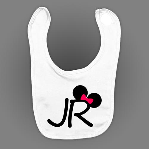 PRINT022 | Bavaglino Personalizzato Neonato - Junior Mouse