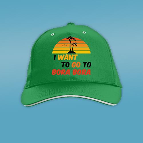 PRINT031 | Cappellino Personalizzato baseball - Go to Bora Bora