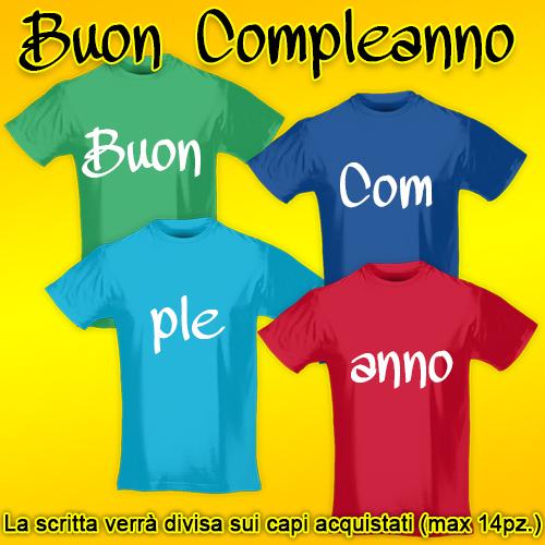 PRINT034 | T-shirt Personalizzata slim uomo - Buon Compleanno [GRUPPO]