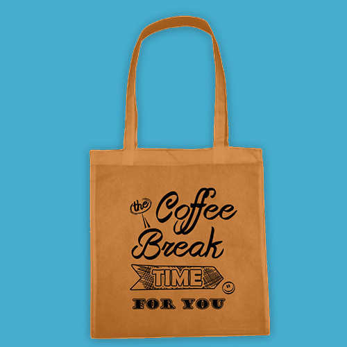PRINT049 | Borsa Shopper Personalizzata - Coffee Break