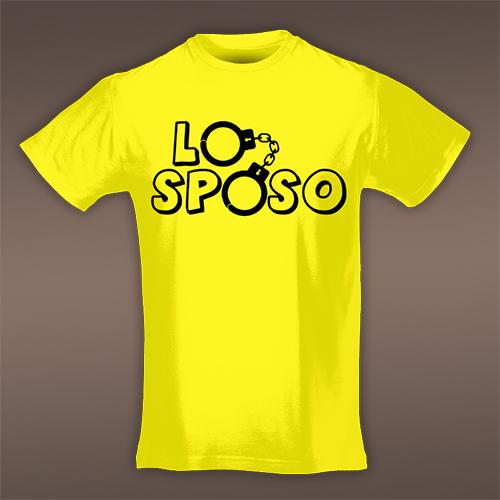 PRINT057 | T-shirt Personalizzata slim uomo - Lo sposo