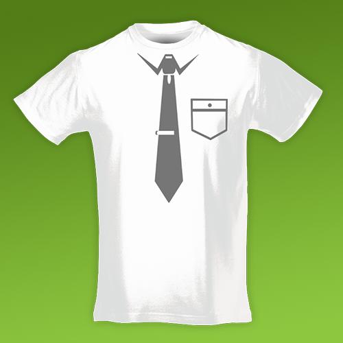 PRINT071 | T-shirt Personalizzata slim uomo - Cravatta...