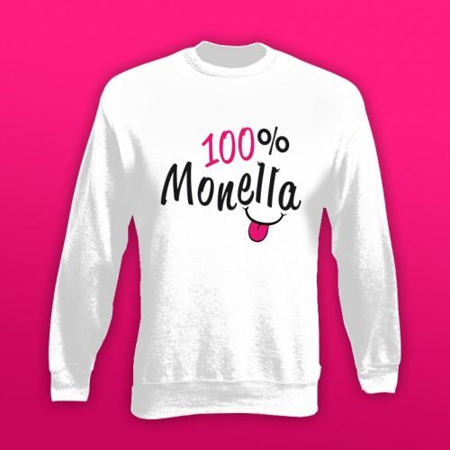 PRINT093 | Felpa Personalizzata bambina - 100% Monella