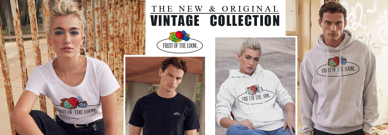 Abbigliamento Fruit of the Loom Stampato Vintage Collection