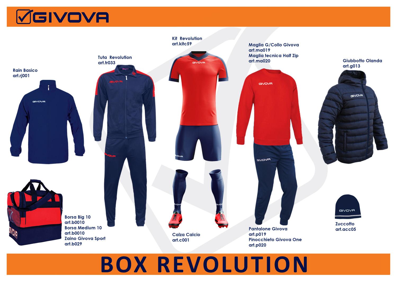 Box Revolution 10 - Completo calcio Givova
