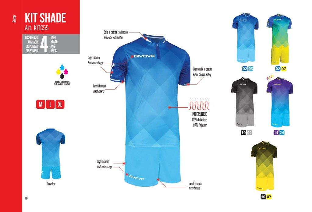 Kit Shade Calcio - Givova